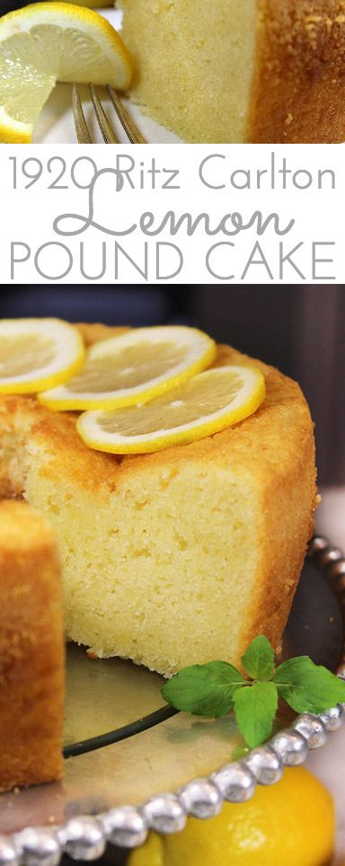 1920 Famous Ritz Carlton Lemon Pound Cake Recipe is the one for you! This dense, old-fashioned buttery lemon pound cake was a favorite dessert at the Ritz Carlton in the 1920's and it's still popular today. #PoundCake #LemonPoundCake #1920RitzCarltonLemonPoundCake #Lemon #LemonCake #RitzCarltonLemonPoundCake #LemonCake #Cake #Dessert