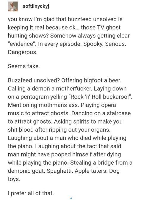 """Ikr Ryan and Shane got a ghost to say """"spaghetti """" and """"apple taters""""! Clearly superior to every other ghost hunting show"""