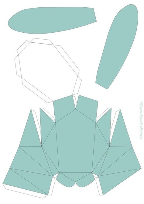 Favori DiY} Web ❤ un trophée Lapin 3D | Origami, Diy origami and Free  DT07