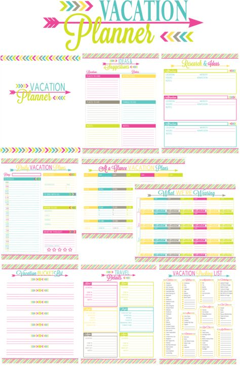 graphic regarding Trip Planner Printable referred to as Pinterest