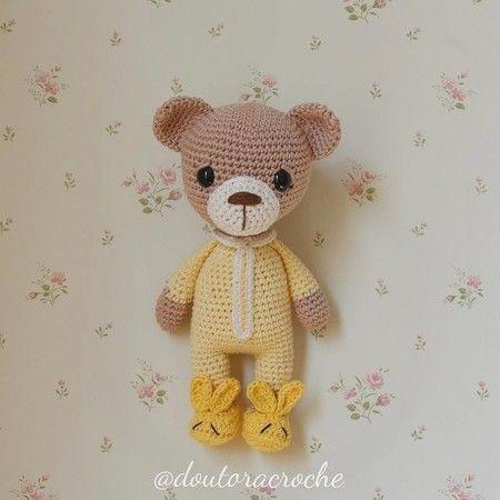 Urso de Pijama - Amigurumi no Elo7 | Mimorumi Baby (DD8F9E) | 450x450
