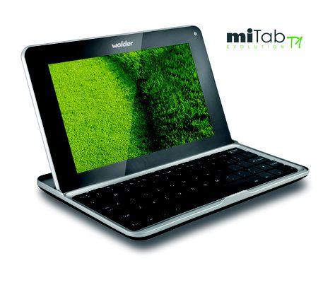 Wolder miTab EVOLUTION T1. Tablet DUO híbrido entre portátil y tablet.