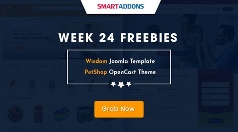 Week 24 Freebies: Get Wisdom Joomla Template & PetShop OpenCart Theme for FREE