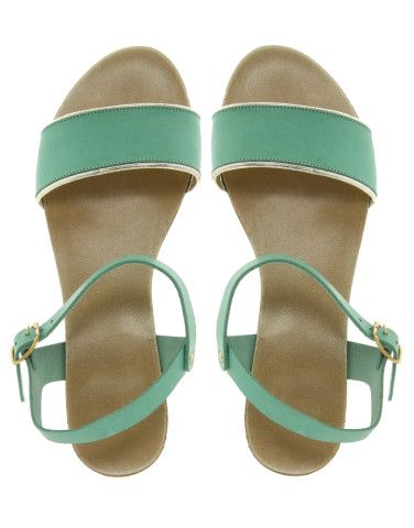 Faith Jaime Classic Mint Leather Sandals reminded me of YOU @Andrea / FICTILIS / FICTILIS Verwey
