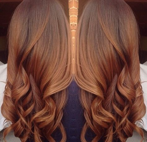 20 Trendy Hair Color Ideas For Brunettes Ombre Copper Hair Pins