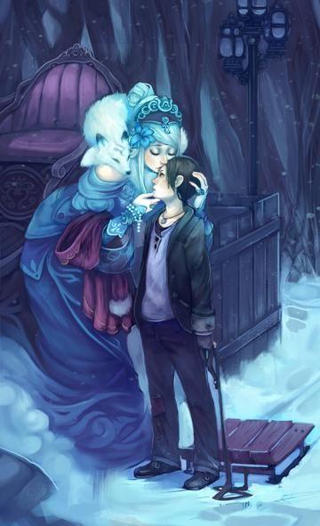 Snow Queen, Ice Queen, Tarot, Legends And Myths, Fairytale Art, Illustrations, Cute Illustration, Fantasy Creatures, Fantasy Art
