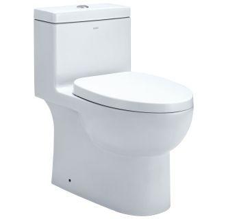 Eago Tb359 White 1 6 0 8 Gpf One Piece Elongated Toilet With Seat One Piece Toilets Eago Toilet