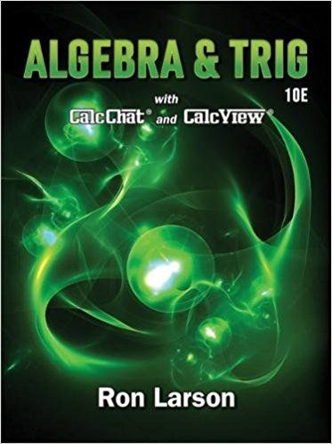 Algebra and Trigonometry 10th Edition Solutions Manual