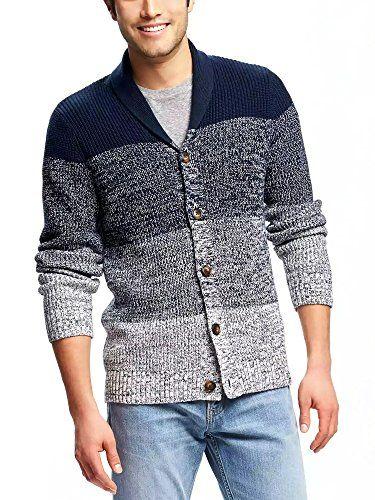 Coofandy Men's Shawl Collar Cardigan Sweater Button Down