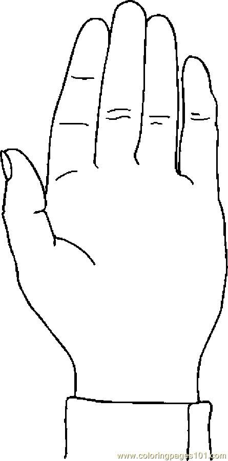 Image Of A Hand To Color