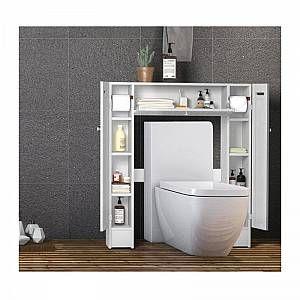 Meuble Pour Wc En 2020 Armoire De Toilette Stockage De Toilette Etagere De Salle De Bain