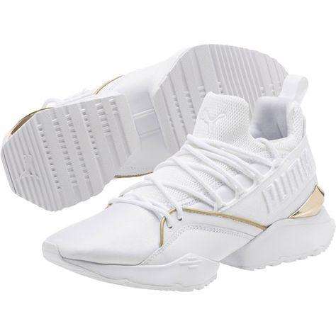 Puma White-Metallic Gold, large