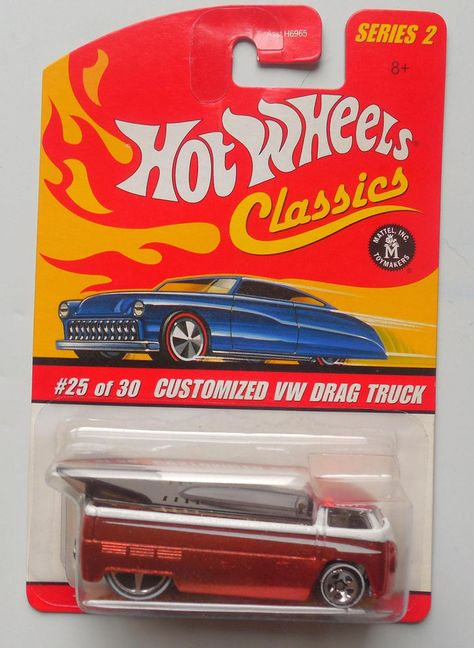 Hot Wheels Classics Series 2 #25 Red Customized Volkswagen Drag Truck