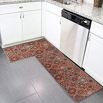 Amazon Com Anti Fatigue Kitchen Floor Rug Set Kimode 2 Piece Comfort Pvc Leather Heavy Duty Sta Anti Fatigue Kitchen Mats Kitchen Mats Floor Kitchen Flooring