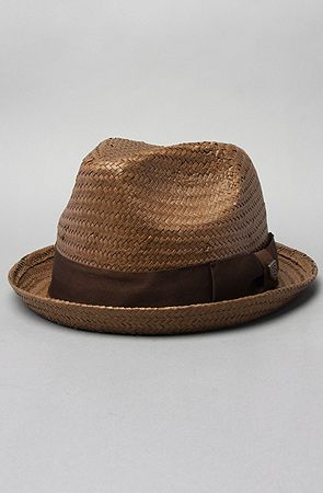 The Castor Fedora in Brown Straw by Brixton