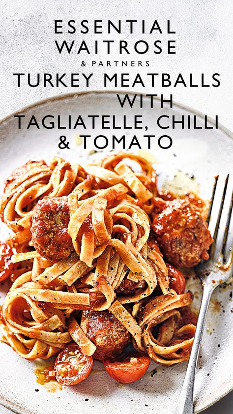 From fridge to plate in 25 minutes, this pasta dish makes the perfect mid-week meal. Brilliantly adaptable, you can also use the turkey mixture to make burgers, serve in a bun with lots of salad.  Tap for the full Waitrose  Partners recipe.