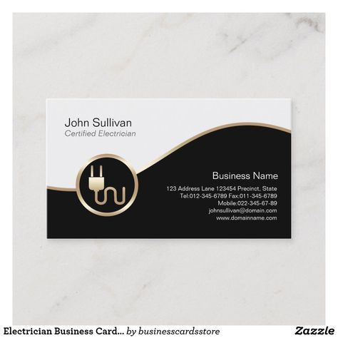 110 Best Electrician Business Card Templates Images In 2020