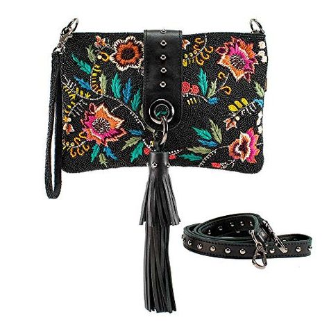 Exquisite Buckle Coin Purses Lily With Flowers Plant Mini Wallet Key Card Holder Purse for Women