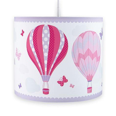 Schön Kinder Kinder Heißluftballon Lampenschirm Blau//Weiß Sterne