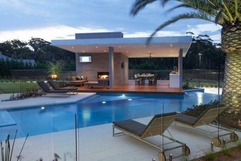 Gazébo et abri soleil : des idées pour jardin avec piscine ...