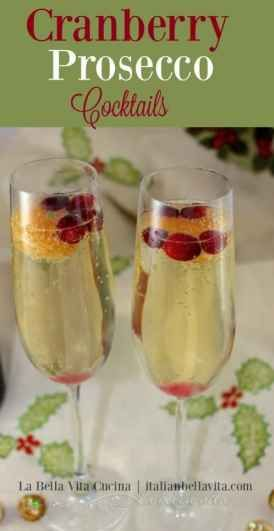 Christmas Cocktails 2020 Prosecco BEST Cranberry, Clementine, and Prosecco Cocktails in 2020