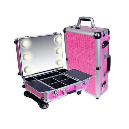 Shany Mini Studio Togo Makeup Case With Lights Pink Walmart Com Makeup Case Makeup Vanity Storage Shany Cosmetics