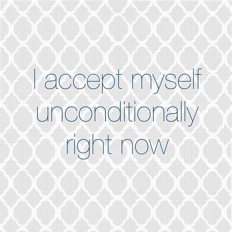 Positive self-love affirmation.