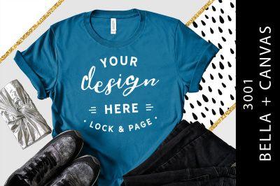 Download Deep Teal Bella Canvas 3001 T Shirt Mockup Graphic Mockup Psd Mockup Template Tshirt Mockup Shirt Mockup Design Mockup Free