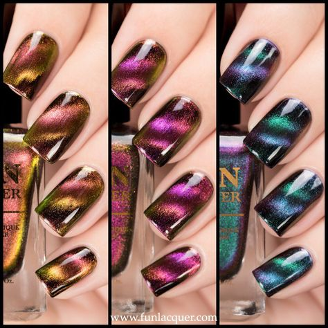 $42.00You will receive: 1. Believe x 1 2. Harmony x1 3. Incredible x1 This collection requires a magnetic tool to create the pattern on your nails. Magnetic tool can be purchased here. All F.U.N Lacquers are 5-FREE! They do not contain Dibutyl Phthalate (DBP), Toluene, Formaldehyde, Formaldehyde Resin, Camphor and it is cruelty FREE. *Kindly read the shop policy here before you commit to purchase. *Shipping info can be found here.
