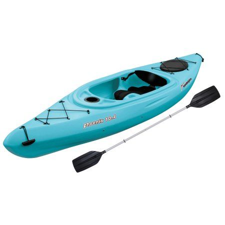 Sun Dolphin Phoenix 10 4 Sit In Kayak Sea Blue Paddle Included Walmart Com Sit On Kayak Recreational Kayak Kayak Paddle