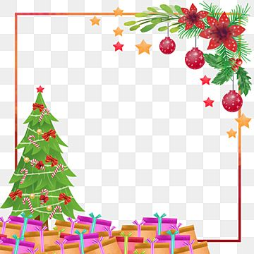 Christmas Tree Flower Leaves Ornament Border Happy Cartoon Christmas Png Transparent Clipart Image And Psd File For Free Download Christmas Tree Flowers Leaf Ornament Christmas Ornaments