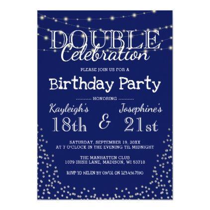elegant double celebration birthday