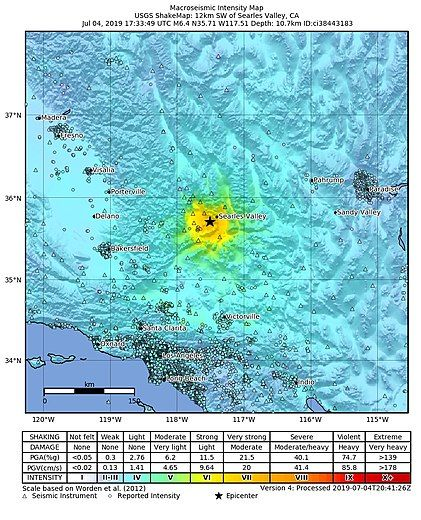 2019 Ridgecrest Earthquakes Received A High Volume Of Edits On July 5 2019 At 08 31pm Ridgecrest California National Parks Earthquake