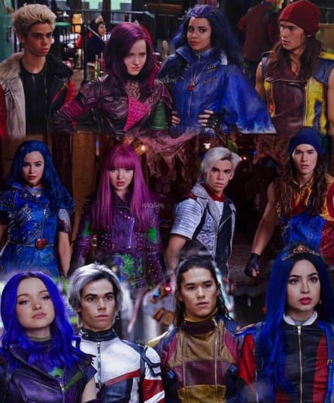 """Descendants 3 on Instagram: """"They changed so much😍 credz to the owner for the edit💜follow @disney__descendants3 follow @disney__descendants3  follow…"""""""