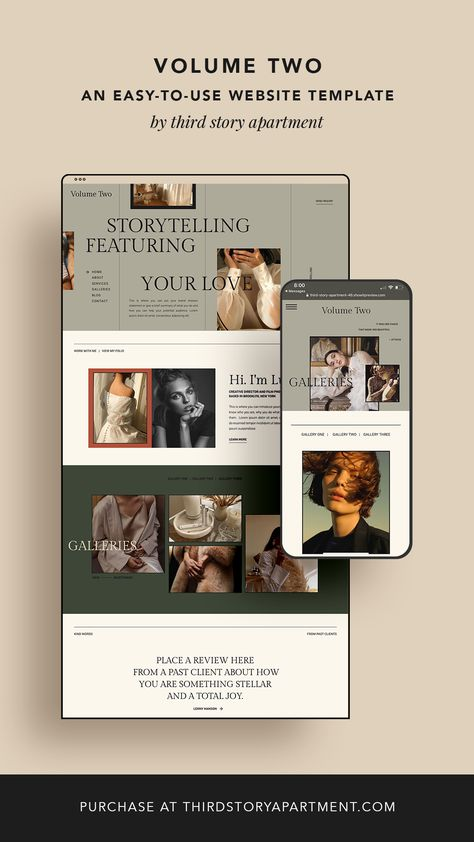 EASY-TO-USE WEBSITE TEMPLATE