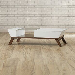 Posner Coffee Table With Tray Top Allmodern Coffee Table Pedestal Coffee Table Stylish Coffee Table
