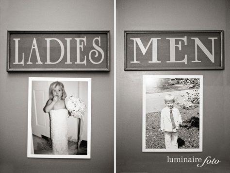 WC | Ladies | Men | Restroom | Washroom | Bride | Groom | Girl | Boy | Photo | Wedding | childhood | Hochzeit | Toiletten | Bilder | Photos | Braut | Bräutigam | Kindheit | Mädchen | Junge