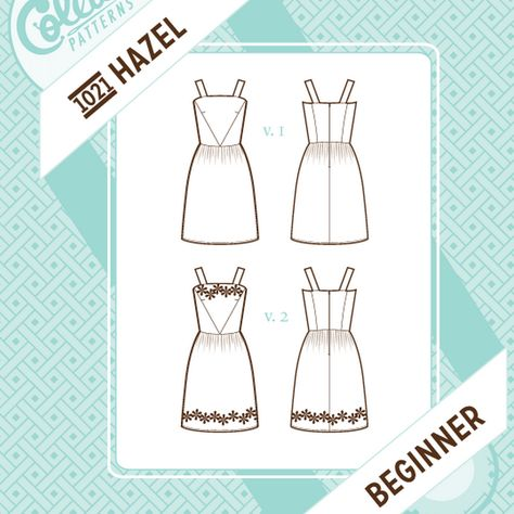 Dress Pattern No. 1021 - Hazel – The Cloth Pocket