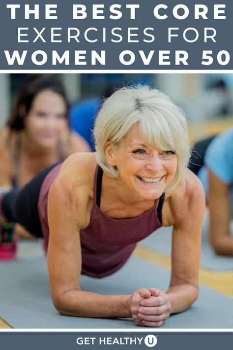 Best Core Workouts, Gym Workout Videos, Easy Workouts, Exercises For Seniors, Core Exercises For Women, Face Exercises, Senior Fitness, Core Muscles, Health Fitness