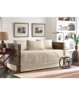 BEAUTIFUL YELLOW CREAM BEIGE DAY BED TEXTURED DAYBED SET /& SHAMS BRAND NEW!