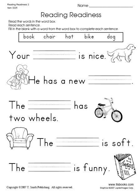 Snapshot Image Of Reading Readiness Worksheet 2 With Images