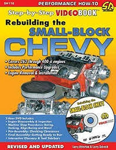Rebuild The Small Block Chevy Videobook Step By Step Videobook By Larry Atherton Cartech In 2021 Chevy Rebuild Engineering