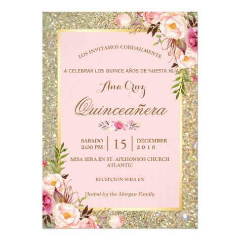 List of Pinterest quinceaneras invitations ideas sweet 15 pink 16