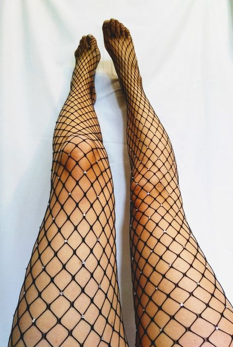 Fishnet tights. Sparkle Mesh Rhinestone Sexy Sheer Tights. New | Etsy