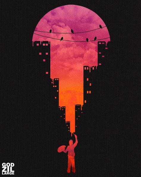 Sunset Painter by godzillarge