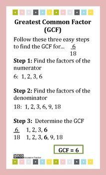 55 Math Gcf Ideas Math Gcf Lcm And Gcf