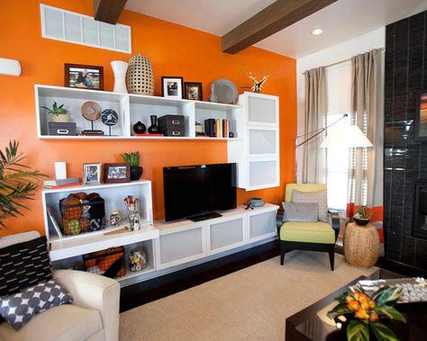 Warna Cat Yang Bagus Untuk Ruang Tamu Berwarna Orange Ruang Tamu Minimalis Pinterest