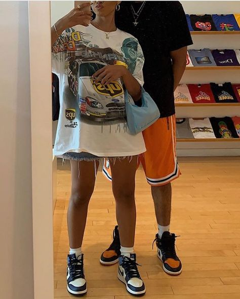 i really needa start dressing like dis Cute Casual Outfits, Retro Outfits, Grunge Outfits, Girl Outfits, Fashion Outfits, Matching Couple Outfits, Summer Outfits Men, Tomboy Outfits, Tomboy Fashion
