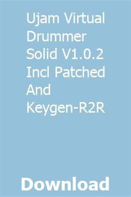 Ujam Virtual Drummer Solid V1 0 2 Incl Patched And Keygen