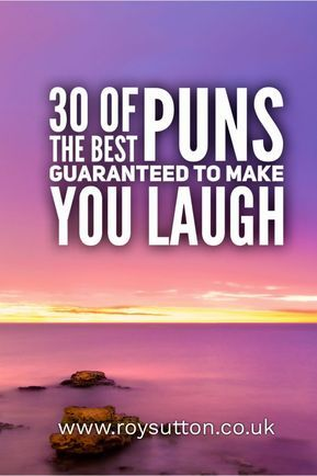 30 Of The Best Puns Guaranteed To Make You Laugh Witty Jokes Best Puns Funny Puns
